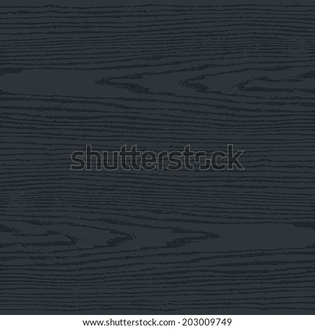 Black wood texture background in square format. Blank realistic plank with annual years circles. Empty natural pattern swatch template. This vector illustration design elements save in 10 eps