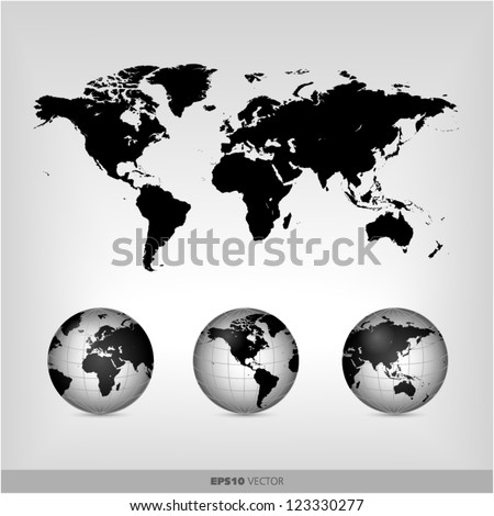 black world globe