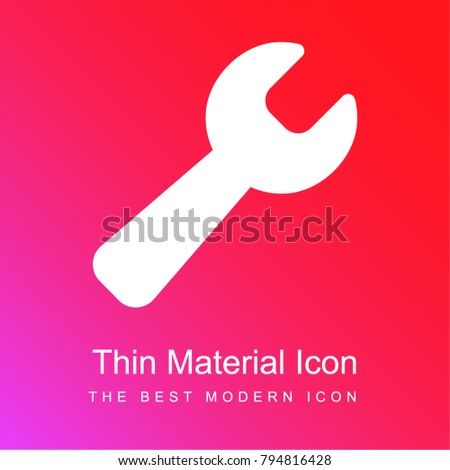 Black wrench red and pink gradient material white icon minimal design