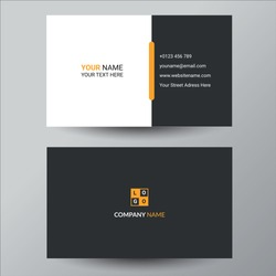 Black & yellow business card design template
