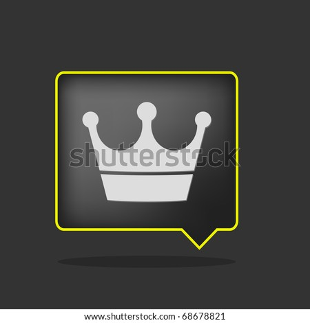 black yellow neon crown icon