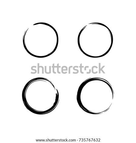 black zen circle set brush