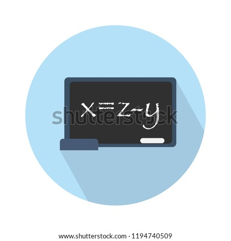 blackboard icon - teaching board icon - vector school blackboard - classroom sign and symbol