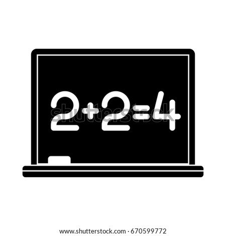 blackboard math lesson icon