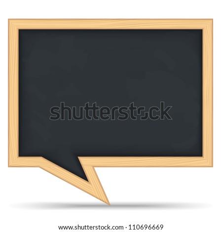 Blackboard Speech Bubble, vector eps10 illustration