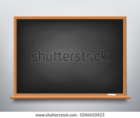 blackboard with chalk hanging...