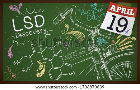 blackboard with chemical