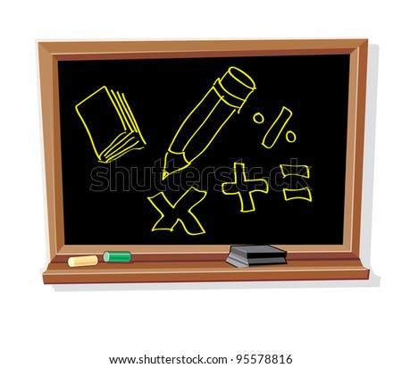 Blackboard with Drawings