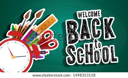 blackboard with greeting  first