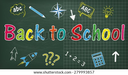 blackboard with text back to