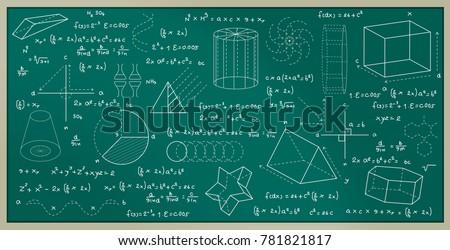 blackboard written with physics