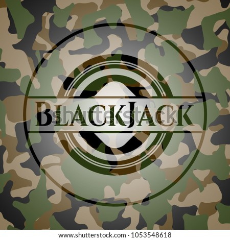 blackjack on camouflaged pattern