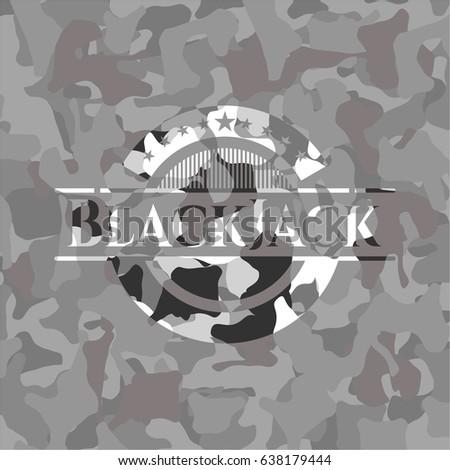 blackjack written on a grey