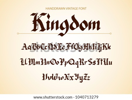 Gothic style old english letter set - Download Free Vectors