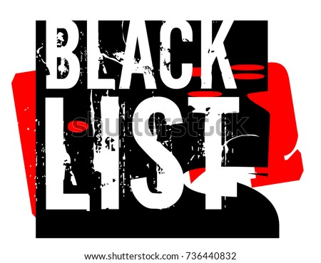 blacklist sticker authentic
