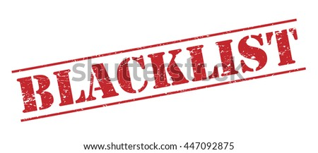 blacklist vector stamp on white
