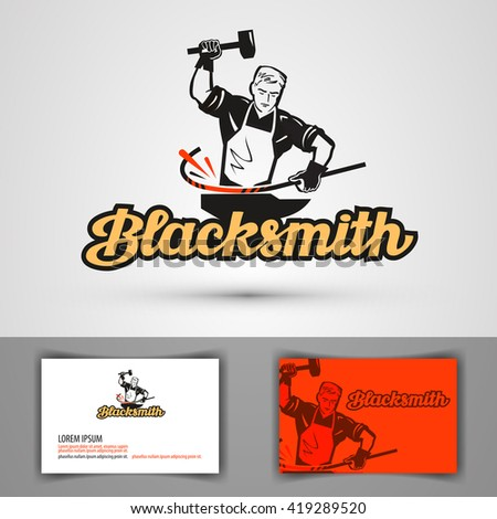 blacksmith vector logo smithy