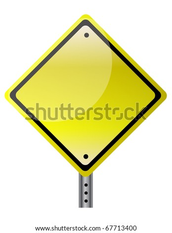 Blank and isolated traffic sign. vector file also available. / Isolated traffic sign
