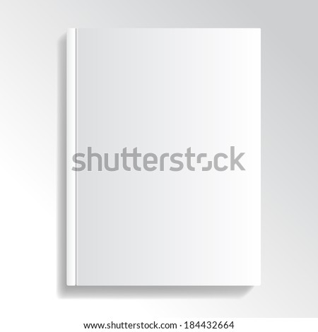 Blank and white cover illustration for your designs. #184432664