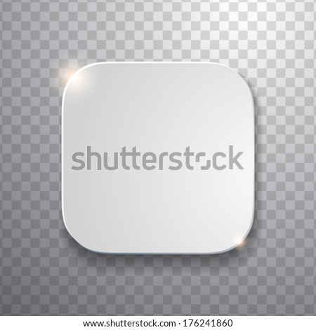 blank app icon template with flatted white texture.