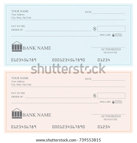 Shutterstock Blank bank checks or che-que book on colored isolated on white background.
