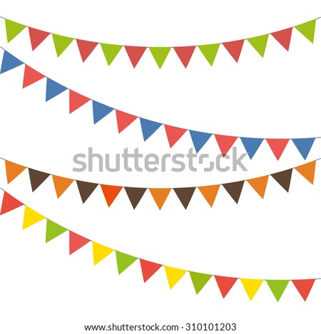 Blank banner, bunting or swag templates for scrapbooking parties, spring, Easter