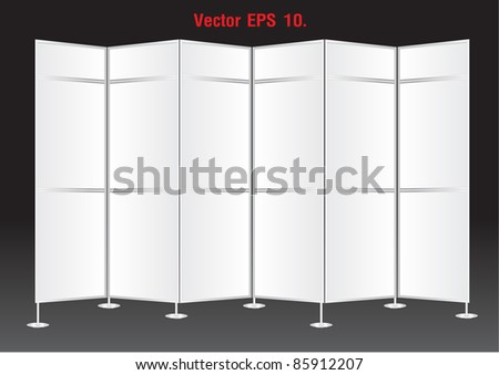 Blank banner display stands advertising. Vector template for design work