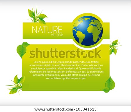 blank banner nature with earth. vector illustration