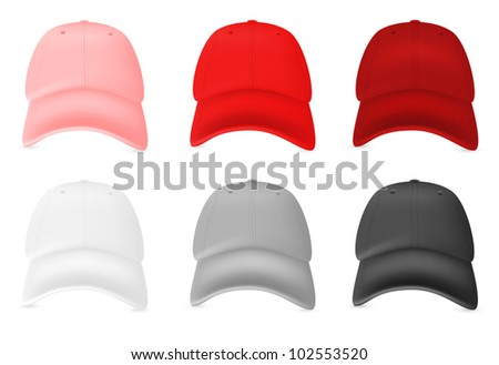 Blank baseball hat template.