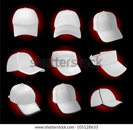 Blank baseball hat template.