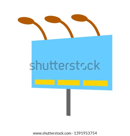 Blank billboard. Illustration isolated on white background. Graphic concept for your design