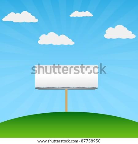 blank billboard in environment