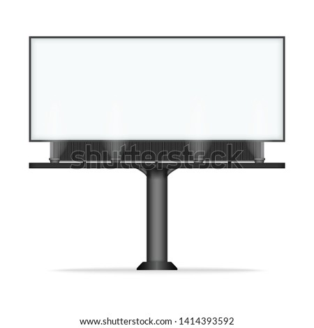 Blank billboard mock up for advertisement