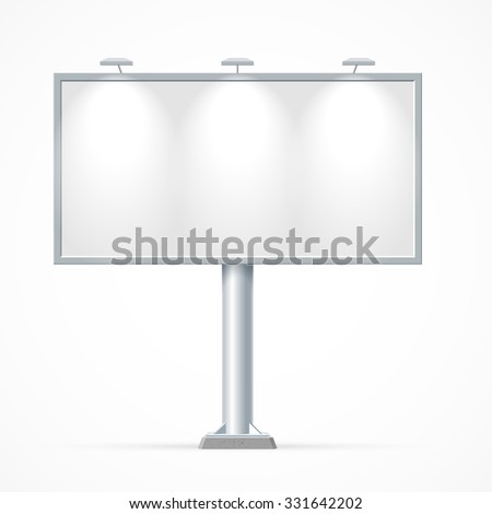 Blank billboard. Mockup for your advertisement and design