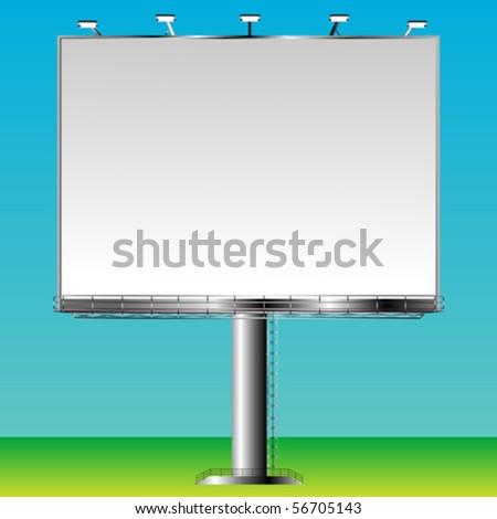 Blank billboard sign ready for add, vector