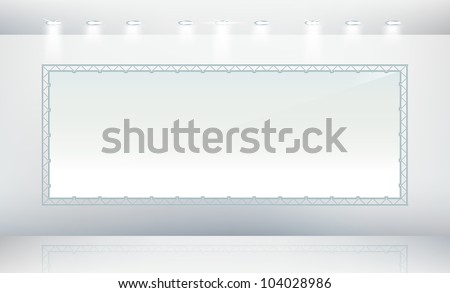 Blank billboard with metal frame