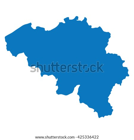 blank blue similar belgium map