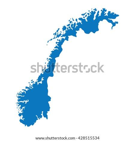 blank blue similar norway map