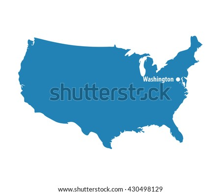 Blank outline map of usa download free vector art stock blank blue similar usa map with dc washington isolated on white background united states of pronofoot35fo Image collections