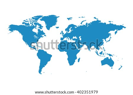 blank blue similar world map