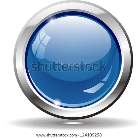Blank blue web buttons for website or app. Vector eps 10