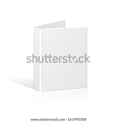 Blank Book Cover, Binder or Folder Template. Vector