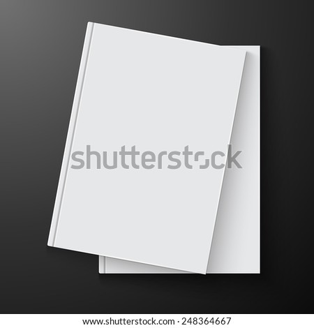Blank book cover, excellent vector illustration, EPS 10 #248364667