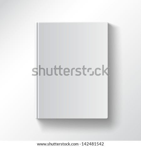 blank book cover vector...