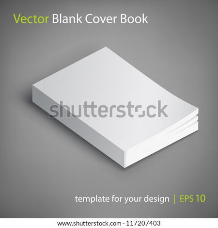 Blank book cover vector illustration Template for your design