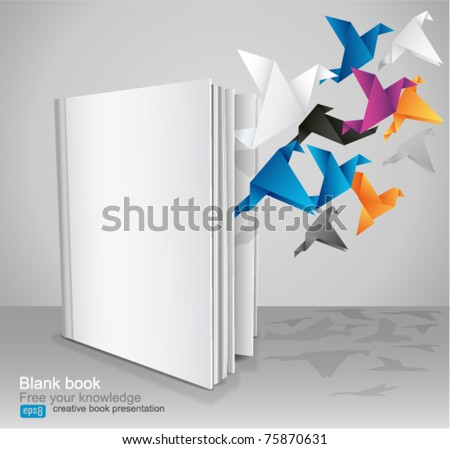Blank Book, Creative Book Presentation. Vector Illustration. - stock vector