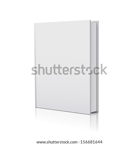 blank book over white