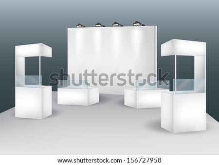 Blank booth event display vector