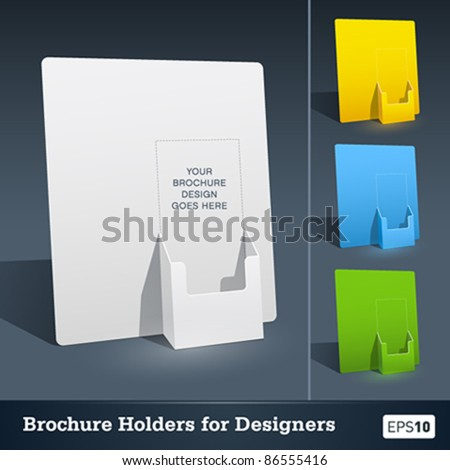 brochure holder template - blank brochure holder template for designers stock vector