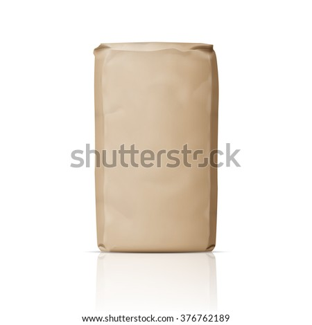 blank brown paper bag for